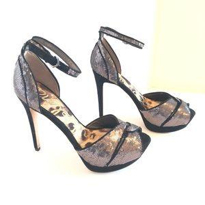 Sam Edelman Paisley Sequin Ankle-Wrap Sandal